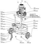 Compresor de construcción móvil hds bx 10 bar, 24 litros.