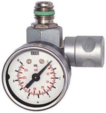 Regulador de presion en linea con manometro