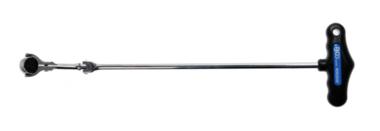 Carraca articulada con mango en T, inclinable cuadrado exterior 6,3 mm (1/4)