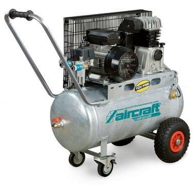 Compresor de aceite accionado por correa caldera galvanizada 10 bar - 50 litros